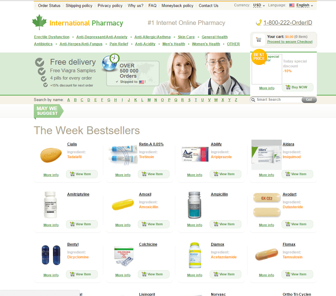 Official-drugstore.net Main Page
