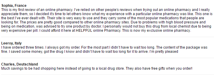 Cheap-pills.com Testimonials