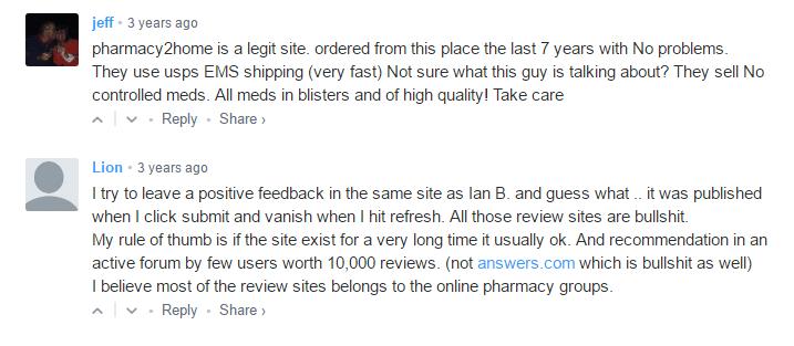 Pharmacy2home.com Reviews