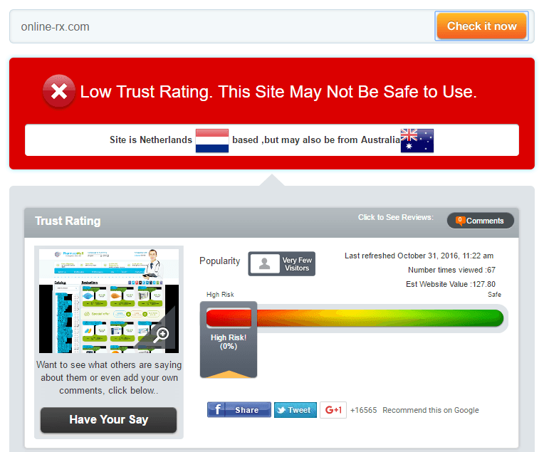 Online-rx.com Trust Rating