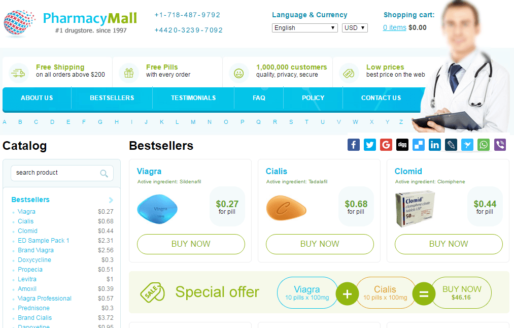 Pharmacymall.net Main Page