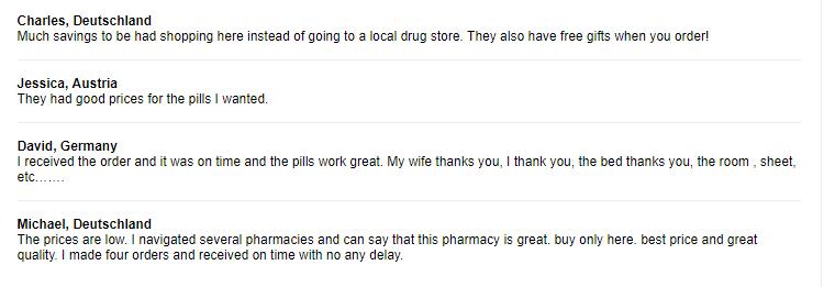 Pharmacymall.net Testimonials 2018