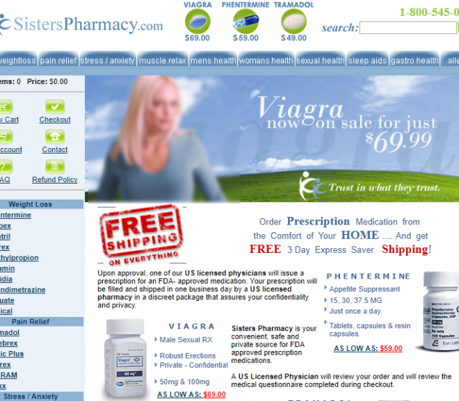 Sisterspharmacy.com Review – Germany-Based Online Vendor Operated Under Aliases