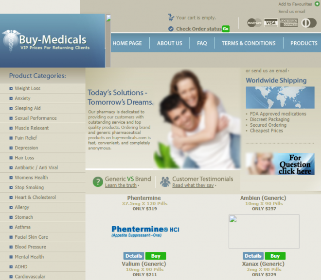 Buy-medicals.com Review – Not a Reputable Pharmacy to Conduct Business