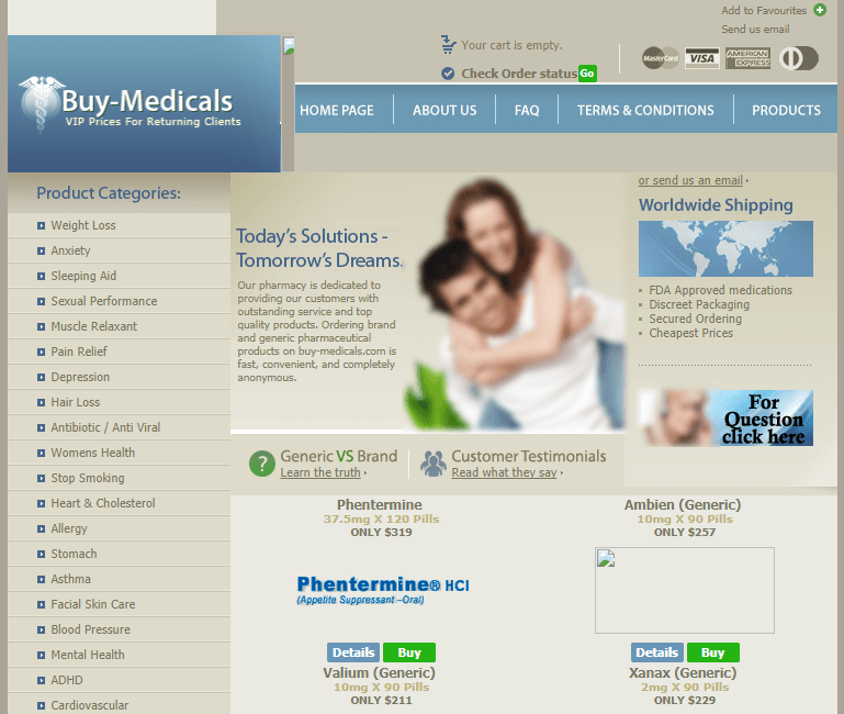 Buy-medicals.com Main Page