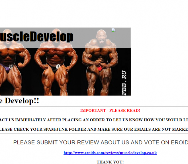 Muscledevelop.co.uk Review – Amusing that it's Closed despite having Good Past Reviews
