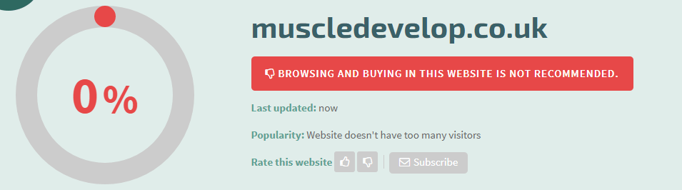 Muscledevelop.co.uk Safety Level