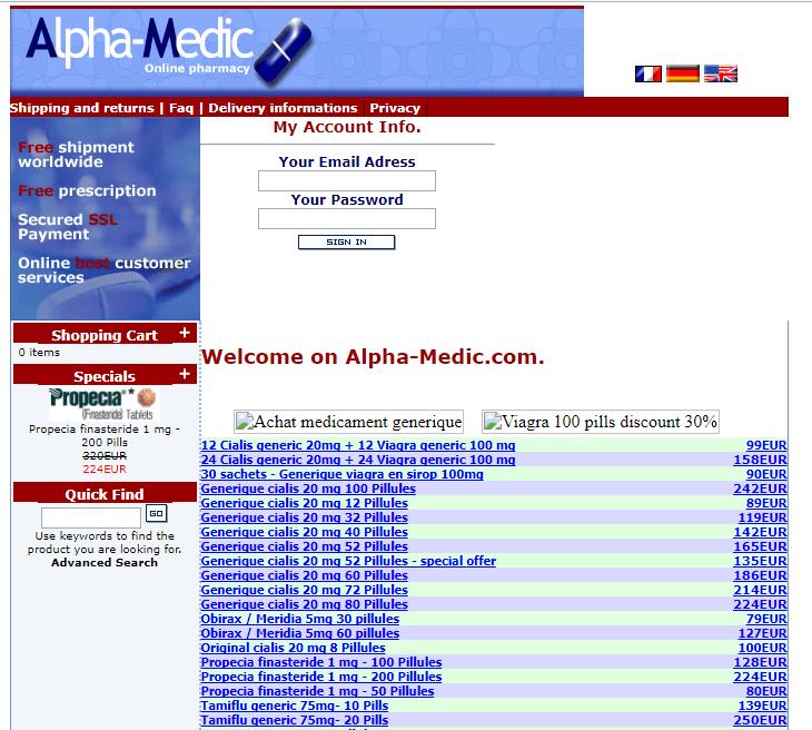 Alpha-medic.com Main Page