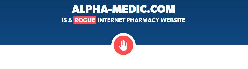 Alpha-medic.com is a Rogue Website