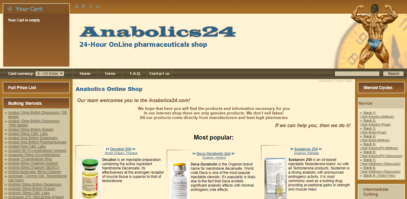 Anabolics24.com Main Page