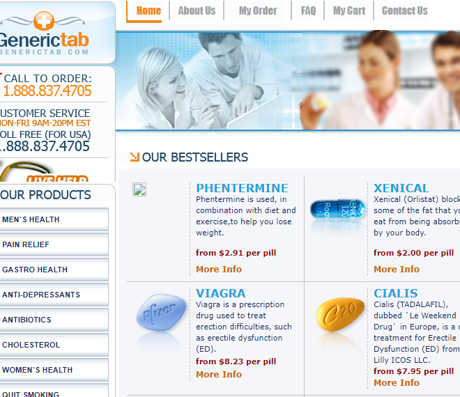 Generictab.com Review – Suspended Internet Pharmacy that Failed Authentication