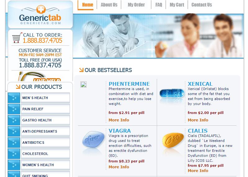 GenericTab.com Main Page