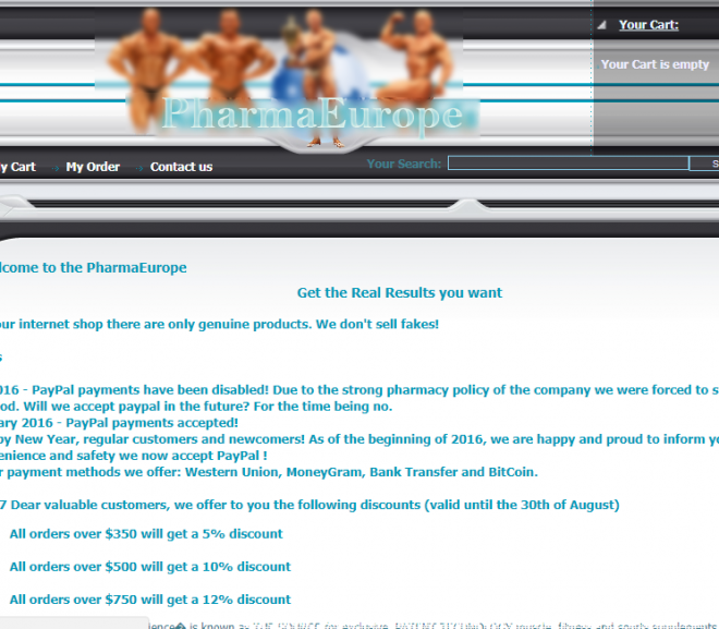Pharmaeurope.net Review – Not Recommended Pharmacy with Poor Scam Reports