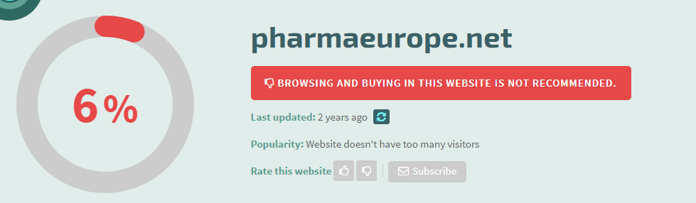 Pharmaeurope.net Safety Level