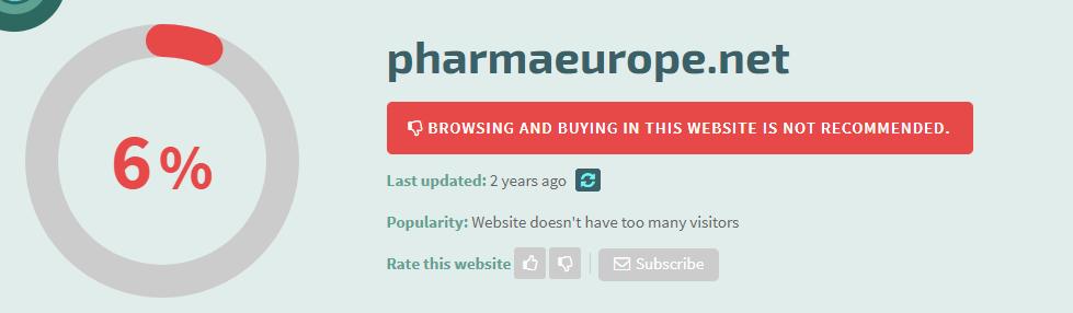 Pharmaeurope.net Safety Level