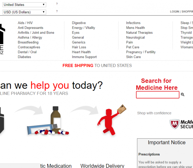 Inhousepharmacy.biz Review – Could Have Have Been Recommended If Only Still Operating!