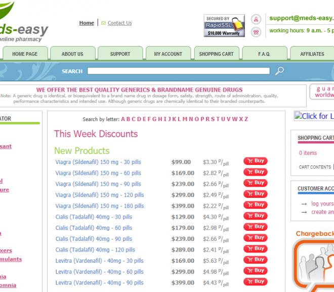 Meds-easy.com Review – Canadian Pharmacy was A Scam Pharmacy
