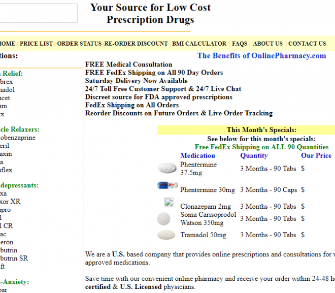 Onlinepharmacy.com Review – Online Pharmacy with So Many Promises and Nothing to Back Them Up