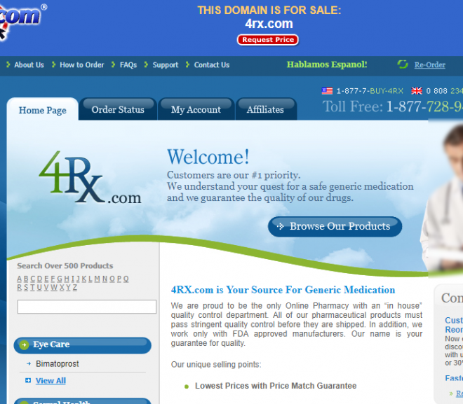 4rx.com Review – Online Pharmacy that Went Downhill