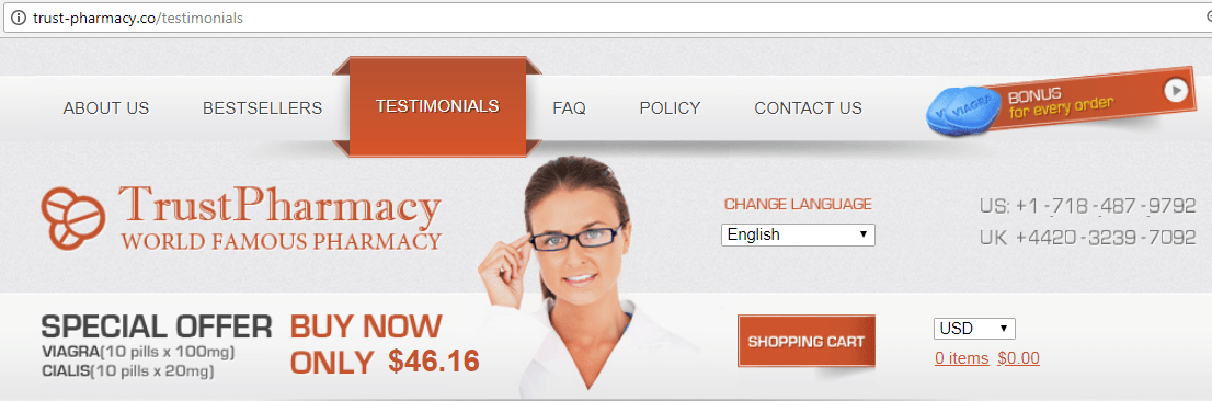 Trust Pharmacy (trust-pharmacy.co) Website