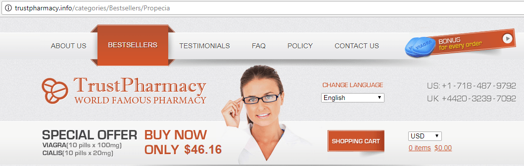 Trust Pharmacy (trustpharmacy.info) Website
