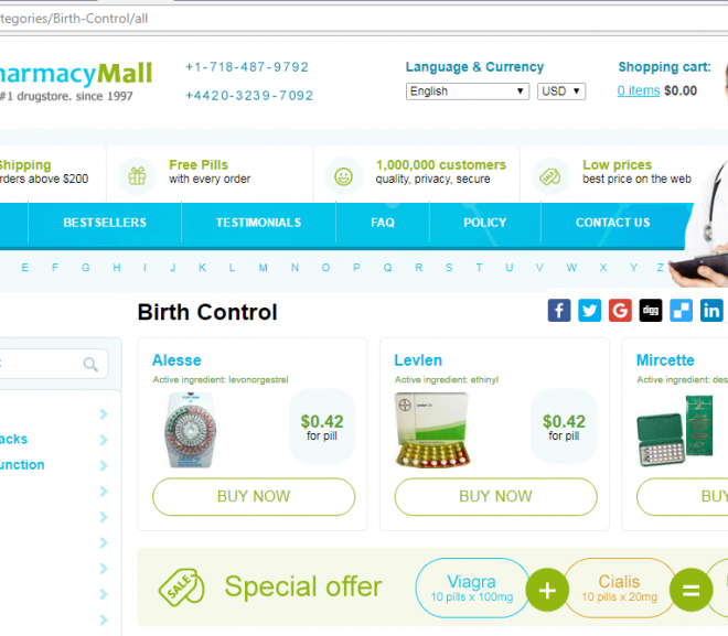 Pharmacy Mall Review – A Great Network of Stores Selling Effective Meds