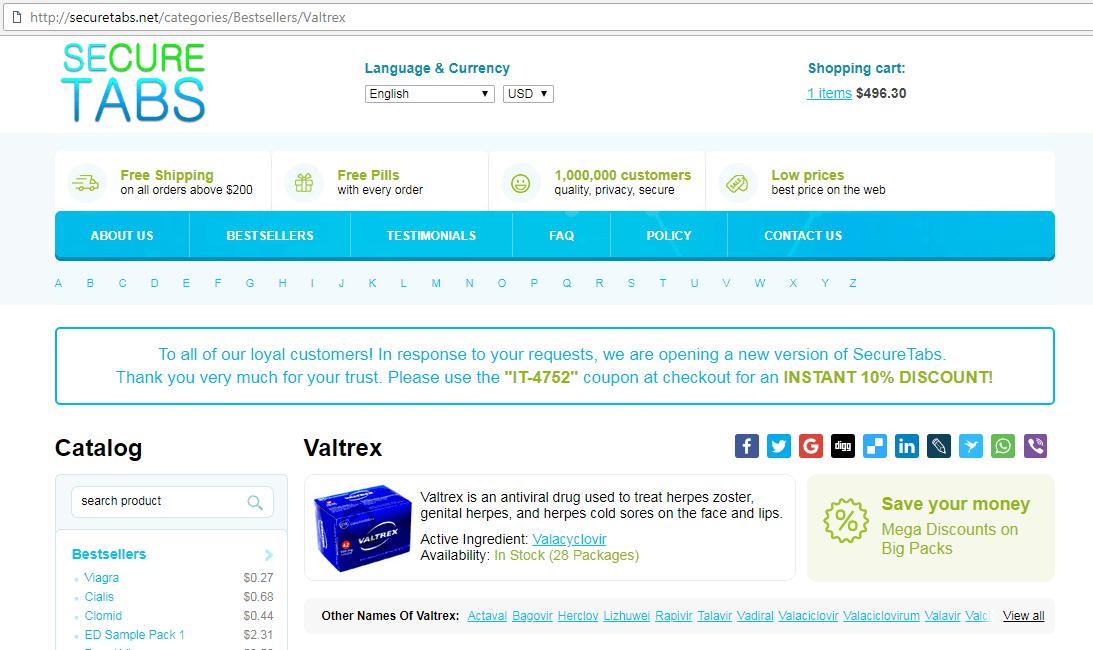 SecureTabs Pharmacy Site